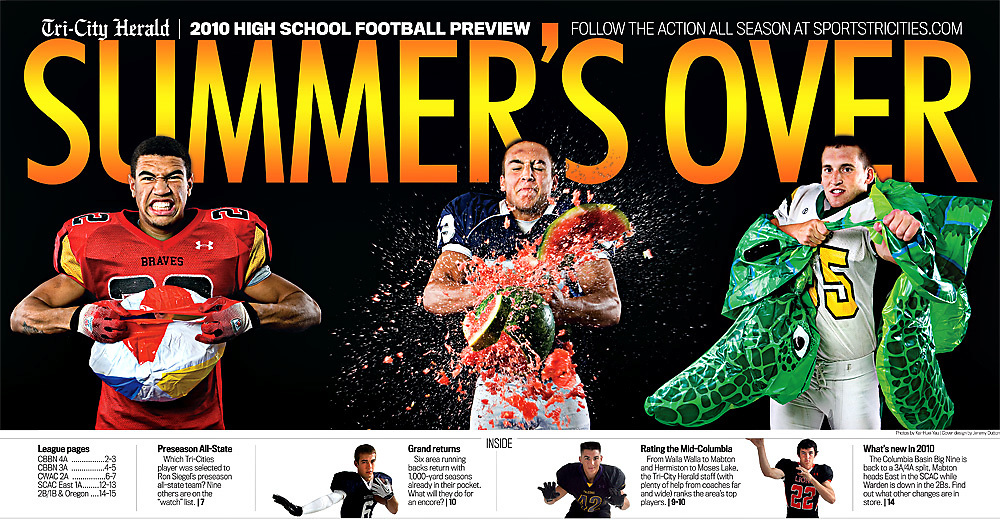 High School Football Preview 2010..Design by Jeremy Dutton