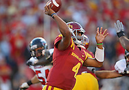 September 2 2010: Iowa State Cyclones quarterback Austen Arnaud (4) throws a pass during the first half of the NCAA football game between the Northern Illinois Huskies and the Iowa State Cyclones at Jack Trice Stadium in Ames, Iowa on Thursday September 2, 2010. Iowa State defeated Northern Illinois 27-10.