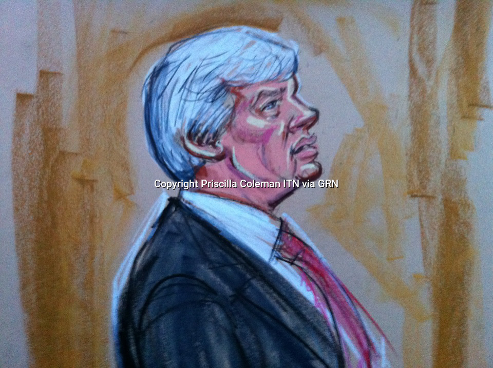 Court Drawings from Wikileak's Founder Julian Assange hearing at Belmarsh Court 7th Feb