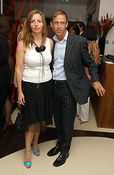 Fashion designer BEN DE LISI and MISS DEBBIE LOVEJOY at a party to celebrate the opening of Maze - a new Gordon Ramsay restaurant at 10-13 Grosvenor Square, London W1 on 24th May 2005.<br />