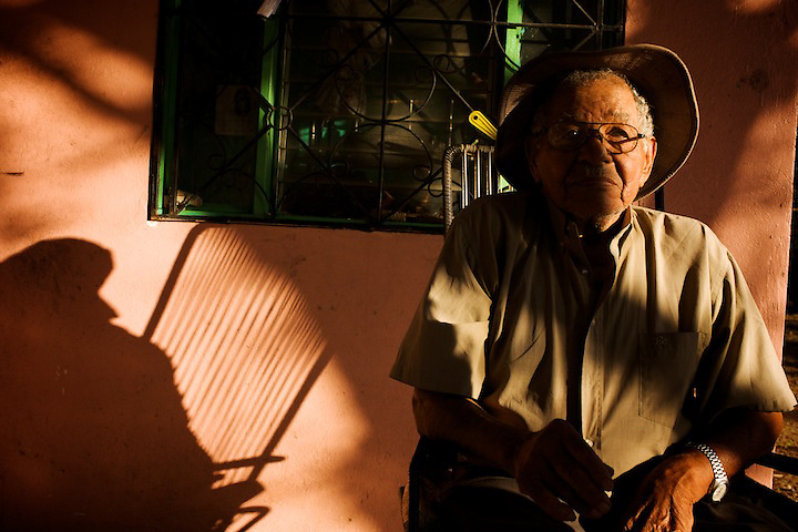 96 years old, and still working hard, eating tortillas, and taking some relax under his porch at the end of the day...