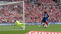 Football - 2017 FA Cup Final - Arsenal vs. Chelsea<br /> <br /> Aaron Ramsey of Arsenal scores the winning goal at Wembley.<br /> <br /> COLORSPORT/DANIEL BEARHAM