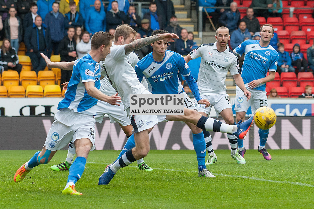 #3 Kevin Holt (Dundee) clears a St Johnstone attack - St Johnstone v Dundee - Ladbrokes Premiership - 23 October 2016 - © Russel Hutcheson | SportPix.org.uk