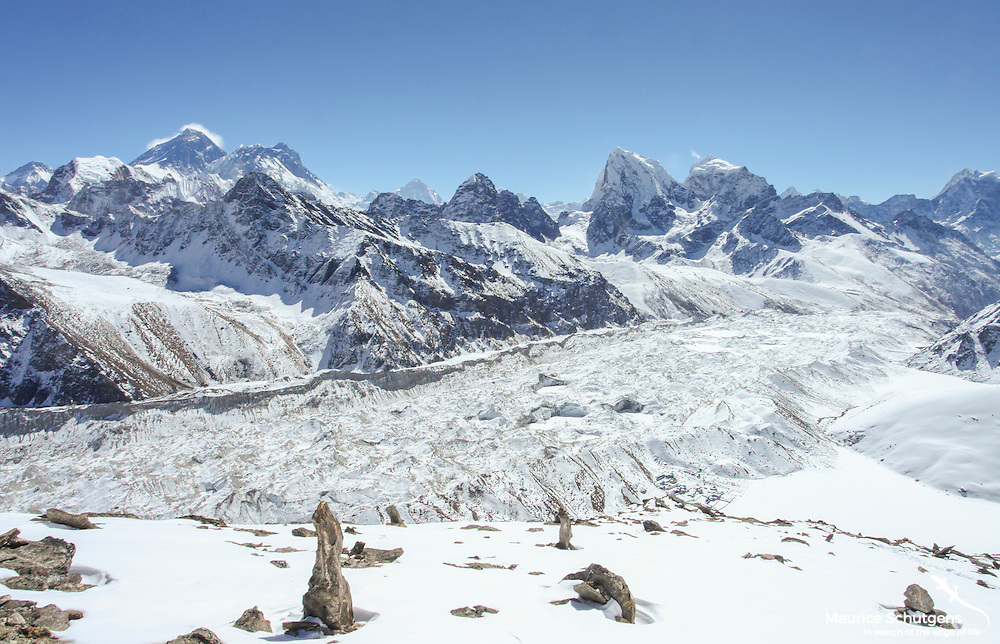 The spectacular Everest skyline viewed from Gokyo Ri, Sagarmatha National Park, Nepal