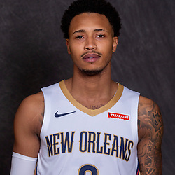 Sep 30, 2019; New Orleans, LA, USA; New Orleans Pelicans guard Jalen Adams (6) poses for a portrait during Media Day at the Ochsner Sports Performance Center . Mandatory Credit: Derick E. Hingle-USA TODAY Sports