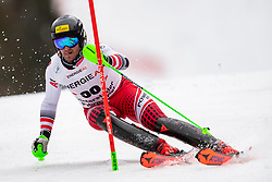 01.03.2020, Hannes Trinkl Weltcupstrecke, Hinterstoder, AUT, FIS Weltcup Ski Alpin, Alpine Kombination, Herren, Slalom, im Bild Daniel Danklmaier (AUT) // Daniel Danklmaier of Austria in action during his Slalom run of men's Alpine combined of FIS ski alpine world cup at the Hannes Trinkl Weltcupstrecke in Hinterstoder, Austria on 2020/03/01. EXPA Pictures © 2020, PhotoCredit: EXPA/ Johann Groder