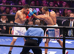 January 26, 2019 - New York, New York, United States - Keith Thurman retains WBA World Championship title winning against challenger Josesito Lopez at Barclays Center (Credit Image: © Lev Radin/Pacific Press via ZUMA Wire)