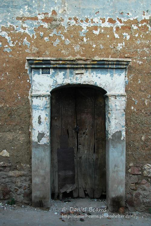 Old doorway in Sucre, Bolivia