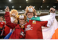 11 June 2013; British & Irish Lions supporters Marissa Domingo and Russell Regan, from Foxrock, Dublin. British & Irish Lions Tour 2013, Combined Country v British & Irish Lions, Hunter Stadium, Newcastle, NSW, Australia. Picture credit: Stephen McCarthy / SPORTSFILE