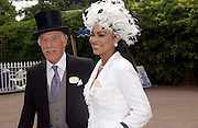 Mr. and Mrs. Bruce Forsyth, Ascot, Wednesday 16 June 2004. ONE TIME USE ONLY - DO NOT ARCHIVE  © Copyright Photograph by Dafydd Jones 66 Stockwell Park Rd. London SW9 0DA Tel 020 7733 0108 www.dafjones.com