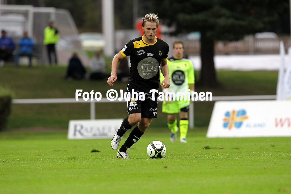 2.9.2012, Wiklof Holding Arena, Mariehamn / Maarianhamina..Veikkausliiga 2012..IFK Mariehamn - Kuopion Palloseura..Markus Joenm?ki - KuPS