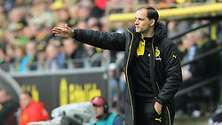 17.04.2016, Signal Iduna Park, Dortmund, GER, 1. FBL, Borussia Dortmund vs Hamburger SV, 30. Runde, im Bild Thomas Tuchel (Trainer, Borussia Dortmund) // during the German Bundesliga 30th round match between Borussia Dortmund and Hamburger SV at the Signal Iduna Park in Dortmund, Germany on 2016/04/17. EXPA Pictures © 2016, PhotoCredit: EXPA/ Eibner-Pressefoto/ Deutzmann<br /> <br /> *****ATTENTION - OUT of GER*****