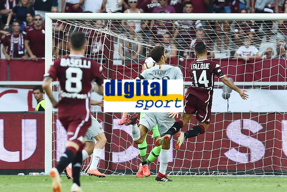 Iago Falque-Federico Fazio<br /> Torino 19-08-2018 Stadio Olimpico Grande Torino <br /> Football Calcio Serie A 2018/2019 Torino - Roma Foto Daniele Buffa / Image Sport / Insidefoto