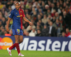 Thierry Henry during the UEFA Champions League quarter final first leg match between FC Barcelona and FC Bayern Munich at the Camp Nou stadium on April 8, 2009 in Barcelona, Spain.