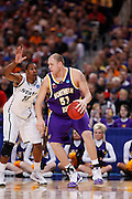 ST. LOUIS, MO - MARCH 26: Jordan Eglseder #53 of the Northern Iowa Panthers looks to get to the basket against Delvon Roe #10 of the Michigan State Spartans during the Midwest regional semi-final of the NCAA men's basketball tournament at the Edward Jones Dome on March 26, 2010 in St. Louis, Missouri. Michigan State advanced with a 59-52 win. (Photo by Joe Robbins)