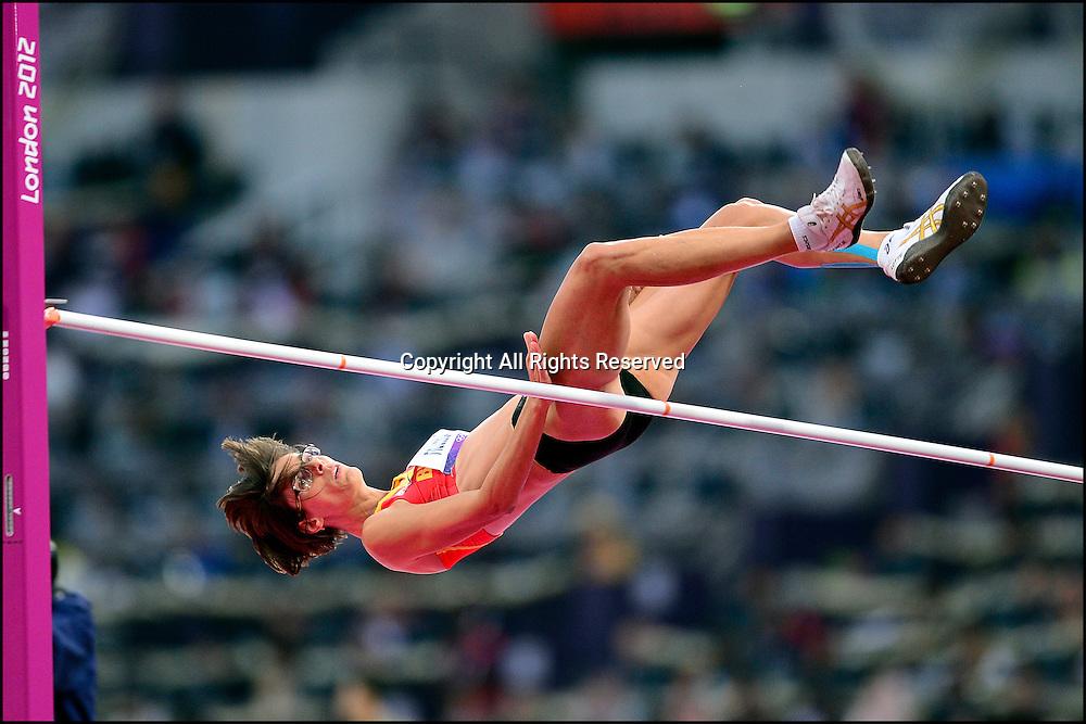 Tia Hellebaut (Bel) - finale saut en hauteur femmes