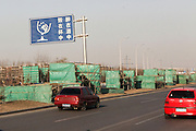 China, Beijing, cityscape Don't Drink and Drive road sign