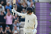 50 for Sam Curran of England  - Sam Curran of England celebrates scoring a half century during the first day of the 4th SpecSavers International Test Match 2018 match between England and India at the Ageas Bowl, Southampton, United Kingdom on 30 August 2018.