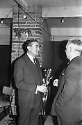 06/04/1963<br /> 04/06/1963<br /> 06 April 1963<br /> Staff presentations to Mr. John D. Ware, departing General Manager of W.D. & H.O. Wills Ireland. Senior staff made presentations of gifts to Mr. Ware at a party at the Zoo, Dublin. Mr. Ware was about to go to Bristol to take up the job of Assistant to W.S.J. Carter who was succeeding to the post of Managing Director of the Firm. Mr. Ware on left.