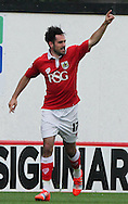 Greg Cunningham (centre) of Bristol City celebrates scoring his sides second goal during the Sky Bet League 1 match at Ashton Gate, Bristol<br /> Picture by Tom Smith/Focus Images Ltd 07545141164<br /> 06/09/2014