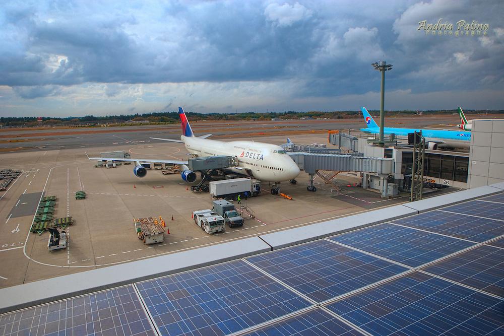 Solar Panels at Narita Airport, Tokyo