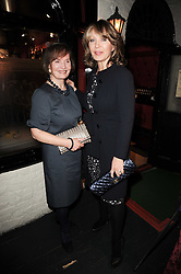 Left to right, CATHERINE YOUNG and her daughter KIRSTY YOUNG at the Johnnie Walker Blue Label Great Scot Award 2010 in association with The Spectator and Boisdale held at Boisdale of Belgravia, 22 Ecclestone Street, London SW1 on 24th February 2010.
