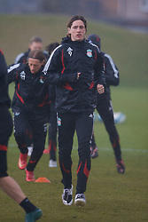 LIVERPOOL, ENGLAND - Friday, March 28, 2008: Liverpool's Fernando Torres training at Melwood ahead of the Merseyside Derby match against Everton. (Photo by David Rawcliffe/Propaganda)