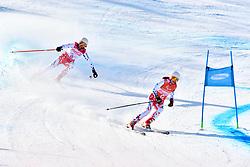 PESKOVA Anna B2 CZE Guide: HUBACOVA Michaela competing in ParaSkiAlpin, Para Alpine Skiing, Super G at PyeongChang2018 Winter Paralympic Games, South Korea.