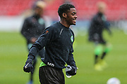 Forest Green Rovers Reece Brown(10) warming up during the EFL Sky Bet League 2 match between Crewe Alexandra and Forest Green Rovers at Alexandra Stadium, Crewe, England on 27 April 2019.