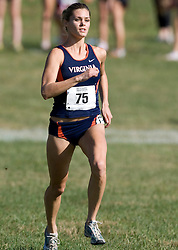 Virginia Cavaliers Emily Harrison (75)..The Atlantic Coast Conference Cross Country Championships were held at Panorama Farms near Charlottesville, VA on October 27, 2007.  The men raced an 8 kilometer course while the women raced a 6k course.