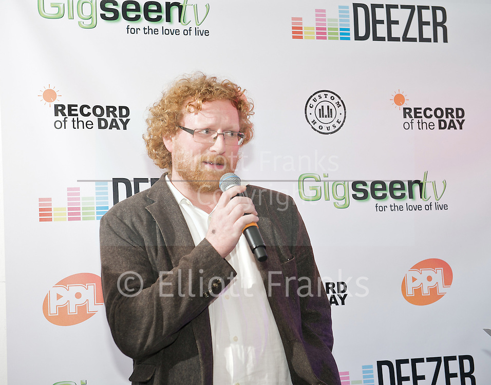 Record of the Day Awards for Music Journalism and PR <br /> <br /> 23 November 2011 <br /> <br /> at Red Gallery, 3 Rivington Street, London, Great Britain <br /> <br /> Nick Kent received the Outstanding Contribution to Journalism, <br /> <br /> Murray Chalmers received the Outstanding Contribution to PR <br /> <br /> Gered Mankowitz received the Outstanding Contribution to Music Photography.<br /> <br /> <br /> Photograph by Elliott Franks