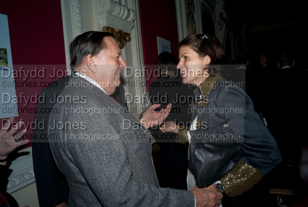 BARRY HUMPHRIES; LUCY TANG, David Tang and Nick Broomfield host  a reception and screening of Ghosts. On the Fifth anniversary of the Morecambe Bay Tragedy to  benefit the Morecambe Bay Children's Fund. The Electric Cinema. Portobello Rd. London W11. 5 February 2009 *** Local Caption *** -DO NOT ARCHIVE -Copyright Photograph by Dafydd Jones. 248 Clapham Rd. London SW9 0PZ. Tel 0207 820 0771. www.dafjones.com<br /> BARRY HUMPHRIES; LUCY TANG, David Tang and Nick Broomfield host  a reception and screening of Ghosts. On the Fifth anniversary of the Morecambe Bay Tragedy to  benefit the Morecambe Bay Children's Fund. The Electric Cinema. Portobello Rd. London W11. 5 February 2009