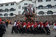 Feast of Corpus Christi. San Blas in procession through the streets of the old town