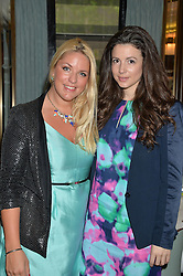 Left to right, GABBY WICKHAM and SHIRLEY LEIGH-WOOD OAKES at the 'Ladies of Influence Lunch' held at Marcus, The Berkeley Hotel, London on 12th May 2014.