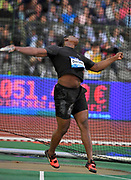 Fedrick Dacres (JAM) places second in the discus at 217-6 (66.31m) during the 42nd Memorial Van Damme in an IAAF Diamond League meet at King Baudouin Stadium in Brussels, Belgium on Friday, September 1, 2017. (Jiro Mochizuki/Image of Sport)