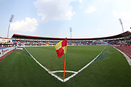 General view during the 1st semi final match of the Hero Super Cup between East Bengal and FC Goa held at the Kalinga Stadium, Bhubaneswar, India on the 16th April 2018<br /> <br /> Photo by: Deepak Malik / SPORTZPICS