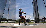 Jul 27, 2019; Des Moines, IA, USA; Gwen Berry places second in the women's hammer throw at 250-10 (76.46m)  during the USATF Championships at Drake Stadium.