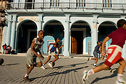 Kids playing in Plaza de Cathedral in Havana - CUBA