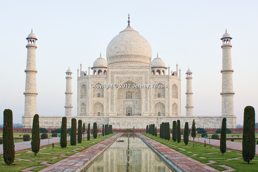 View of the Taj Mahal from the Charbagh (Mughal Garden).