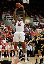 March 22, 2010; Stanford, CA, USA;  Stanford Cardinal forward Nnemkadi Ogwumike (30) shoots against the Iowa Hawkeyes during the second half in the second round of the 2010 NCAA womens basketball tournament at Maples Pavilion. Stanford defeated Iowa 96-67.