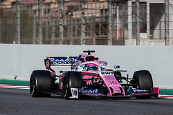 February 28, 2019 - Montmelo, BARCELONA, Spain - CATALONIA, BARCELONA, SPAIN, 28 February. #18 Lance Stroll driver of Racin Point F1 during the winter test at Circuit de Barcelona Catalunya. (Credit Image: © AFP7 via ZUMA Wire)