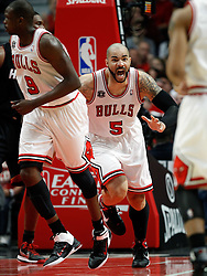 15.05.2011, UNITED CENTER, CHICAGO, USA, NBA, Chicago Bulls vs Miami Heat, im Bild Carlos Boozer reacts against Miami Heat in game 1 of the NBA Eastern Conference Championships at the United Center in Chicago, EXPA Pictures © 2011, PhotoCredit: EXPA/ Newspix/ KAMIL KRZACZYNSKI +++++ ATTENTION - FOR AUSTRIA/ AUT, SLOVENIA/ SLO, SERBIA/ SRB an CROATIA/ CRO, SWISS/ SUI and SWEDEN/ SWE CLIENT ONLY +++++