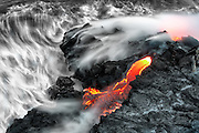 Flowing Lava in Hawaii