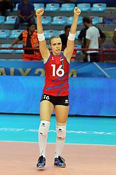 Azerbaijan Oksana Kiselyova celebrates