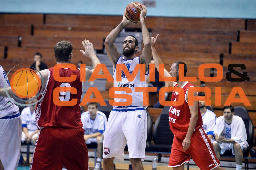 DESCRIZIONE : Sarajevo Nazionale Italia Uomini Torneo Internazionale di Sarajevo Italia Bielorussia Italy Belarus<br /> GIOCATORE : Luigi Datome<br /> CATEGORIA : Tiro<br /> SQUADRA : Italia Italy<br /> EVENTO : Trofeo Internazionale di Sarajevo<br /> GARA : Italia Bielorussia Italy Belorus<br /> DATA : 20/07/2014<br /> SPORT : Pallacanestro<br /> AUTORE : Agenzia Ciamillo-Castoria/GiulioCIamillo<br /> Galleria : FIP Nazionali 2014<br /> Fotonotizia : Sarajevo Nazionale Italia Uomini Torneo Internazionale di Sarajevo Italia Bielorussia Italy Belarus