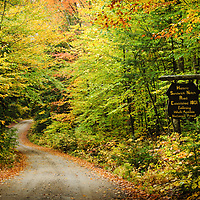 Autumn colors on Sandwich Notch Rd, New Hampshire.  <br />