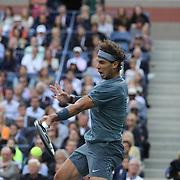 Rafael Nadal, Spain, in action against Novak Djokovic, Serbia, during the Men's Singles Final at the US Open, Flushing. New York, USA. 9th September 2013. Photo Tim Clayton