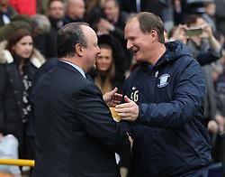 Newcastle United manager Rafa Benitez (L) and Preston North End manager Simon Grayson - Mandatory by-line: Jack Phillips/JMP - 29/10/2016 - FOOTBALL - Deepdale - Preston, England - Preston North End v Newcastle United - EFL Championship