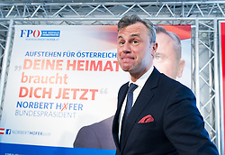 14.03.2016, Parlamentsklub, Wien, AUT, FPÖ, Erste Plakatpräsentation anlässlich der Präsidentschaftswahl 2016, im Bild FPÖ-Präsidentschaftskandidat Norbert Hofer // Candidate for Presidential Elections Norbert Hofer during placard presentation for presidential elections of the austrian freedom party in Vienna, Austria on 2016/03/14. EXPA Pictures © 2016, PhotoCredit: EXPA/ Michael Gruber