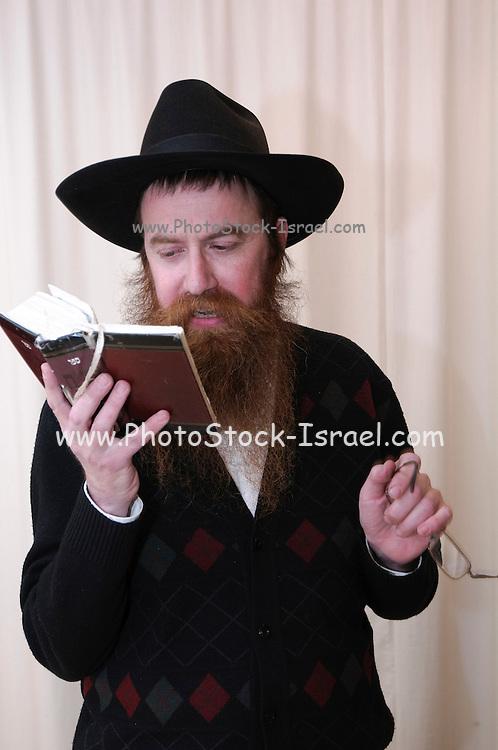 Jewish man praying